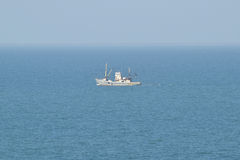 Little old ship in the sea Royalty Free Stock Photography
