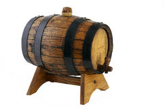 Little old Wine Barrel on a Support -2 Royalty Free Stock Photo