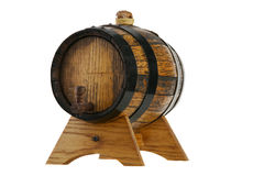 Little old Wine Barrel on a Support -2 Royalty Free Stock Photos
