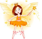 Little orange fairy Royalty Free Stock Image
