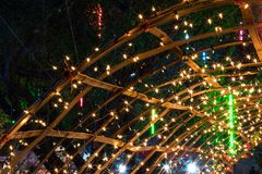 Many lights with bamboo frames. Royalty Free Stock Photography