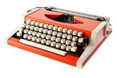 Little orange typewriter Stock Photography