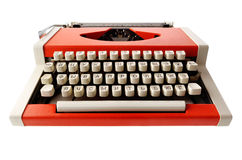 Little orange typewriter Stock Photo