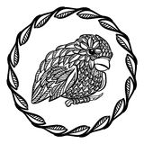Little ornate bird Stock Photo