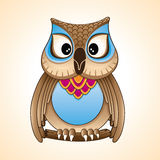 Little owl cartoon vector. Girl little owl beautiful cartoon character Royalty Free Stock Photography