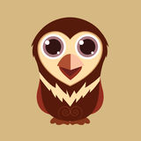Little owl cute cartoon abstract prehistoric color Royalty Free Stock Images