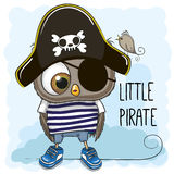 Little Owl Pirate Royalty Free Stock Photo