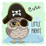 Little Owl Pirate Royalty Free Stock Photos