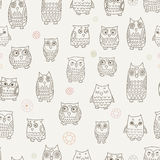 Little owls pattern. Seamless pattern with little owls Royalty Free Stock Image