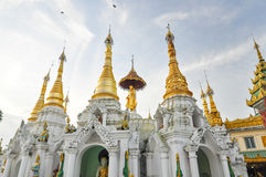 Little pagodas around Shwedagon Paya in Yangon, Myanmar Royalty Free Stock Photo