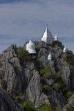 Little pagodas on the hilltop Royalty Free Stock Photos