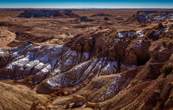Little Painted Desert winter Landscapes Royalty Free Stock Photo