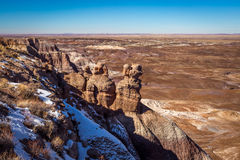 Little Painted Desert winter Landscapes Royalty Free Stock Images