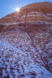 Little Painted Desert winter Landscapes Stock Photo