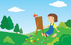 Little painter Stock Photos