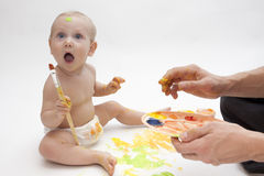 Little painter Royalty Free Stock Photos