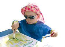 Little painter Royalty Free Stock Photo