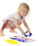 Little painter Stock Photography