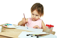 Little painter stock photography