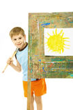 Little painter Royalty Free Stock Image