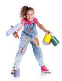 Little painter Royalty Free Stock Photos