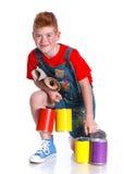 Little painter boy Royalty Free Stock Photos