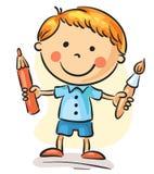 Little painter Stock Photo