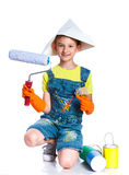 Little painter boy Stock Image