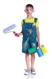 Little painter boy Royalty Free Stock Images