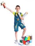 Little painter boy Royalty Free Stock Photo
