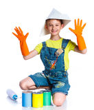 Little painter boy Stock Photography