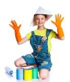 Little painter boy Stock Photography