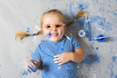 Little Painter Stock Photo