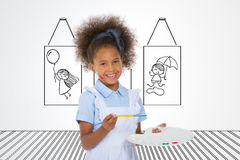 Little painter smiling Royalty Free Stock Photos