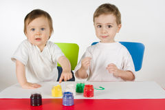 Little painters Royalty Free Stock Images
