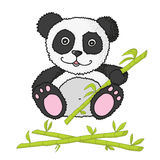 Little panda with bamboo Royalty Free Stock Photos
