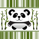 Little panda and bamboo. Stock Image