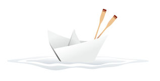 Little paper boat Stock Photos