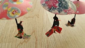 Little paper dolls Stock Images