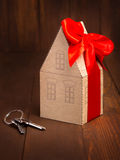 Little paper house Stock Images