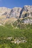 Little Papigo Village Under the Cliffs Stock Photo