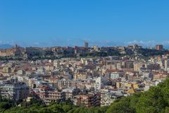 Little part of Cagliari royalty free stock photo