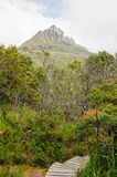 Summit - Cradle Mountain. A little patch of blue sky above Cradle Mountain - Tasmania, Australia Royalty Free Stock Images