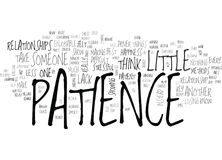 A Little Patience Goes A Long Wayword Cloud Royalty Free Stock Photos