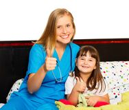 Little Patient's Thumbs Up Stock Images