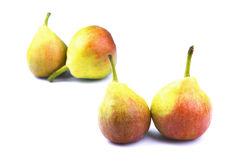 Little pears. On white Stock Image