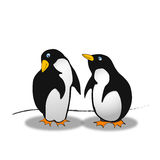 Little penguins - comic style Royalty Free Stock Photography