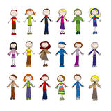 Little people royalty free illustration