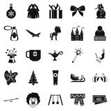 Little people icons set, simple style Royalty Free Stock Image