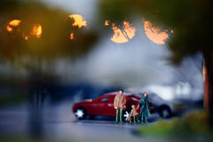 Little people toys blur Stock Photography